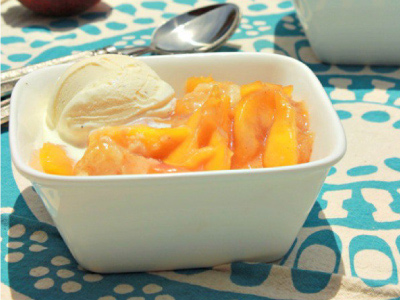 Bourbon and Brown Butter Peach Cobbler